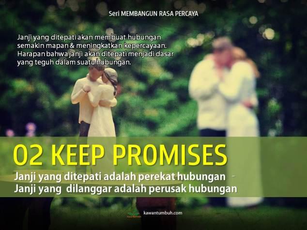 Keep Promise - Tepati Janji... (Seri Membangun Rasa Aman & Percaya)